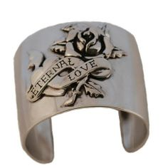 Ed Hardy Eternal Love Wrist Cuff In Stainless Steel Cuff Jewelry, I Love Jewelry, Jewelry Box, Cuff Bracelets, Jewelery, Ed Hardy Designs, Rock Chic, Free Gifts, Fashion Jewelry