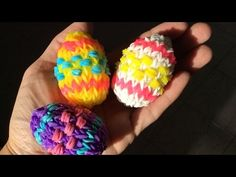Rainbow Loom Nederlands, 3d Paasei, grotere versie (3d easter egg, bigger version) - YouTube
