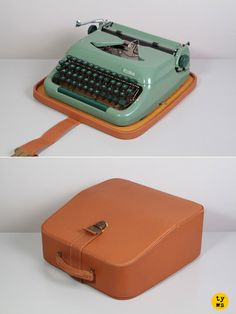 1950's Erika model 10 Typewriter. Elite typeface. very functional element and feature within the product- allows usability when carrying the product to and from places, to ensure protection and usuage.