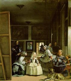 Las Meninas has a very entertaining element about it, and that is the fact that the older man on the far left side is actually the painter of this masterpiece himself, Diego Rodriguez de Silva y Velasquez. He personally inserted himself into this seen to illustrate the importance of him and his paintings... In Velasquez's eyes this act made him of equivalent importance to the subjects he was painting, which in this case was royalty!