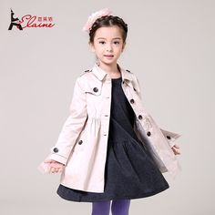 39.96$  Watch here - http://alib7e.shopchina.info/go.php?t=32427961217 - Liancaiyi 2017 New Fashion Style Girls Winter Trench Kids Outerwear Coat Children Character Long Overcoat Clothes 39.96$ #buymethat