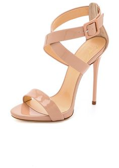 GIUSEPPE ZANOTTI Crisscross patent sandals found on Nudevotion