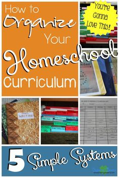 How to Organize All Your Homeschool Curriculum: 5 Systems to Help Your Homeschool Run Smoother by Raising Clovers - I REALLY, REALLY like the student planning page (#2)