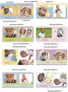 Creating your own custom board book is easy! Just pick one of our templates (or design your own), add some text and cute photos of your little one, and that's it. Start uploading your memories today!