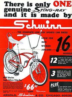 Schwinn Sting-Ray bike ad