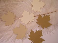 Gift Tags // Medium Fall Maple Leaves //  50 Blank by MorrellDecor