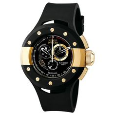 Invicta Men`s 6493 S1 Collection Racer Chronograph Black Rubber Watch $199.99