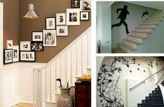 Ideas para decorar la pared de la escalera