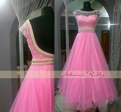 Post by Khan's Creation ( on pink, gowns Party Wear Indian Dresses, Indian Gowns Dresses, Dress Indian Style, Girls Dresses, Indian Wear, Saree Gown, Sari Dress, Anarkali Dress, Long Gown Dress
