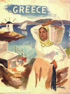 Vintage Greek travel poster 1930s