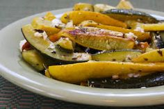 Kalyn's Kitchen®: Easy Recipe for Roasted Baby Summer Squash with Feta and Thyme