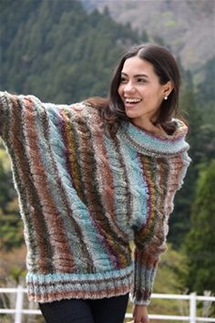 Sweater love!  Noro Obi yarn, free pattern online.  Could this be my first sweater?