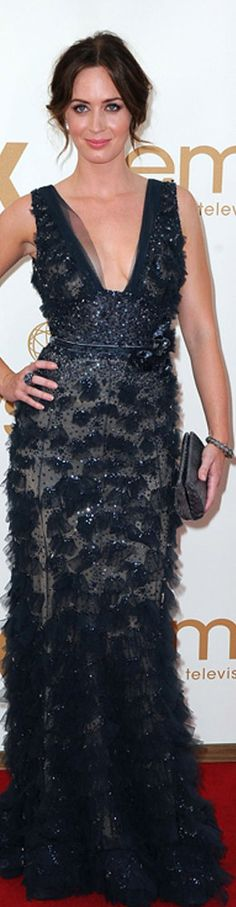 Emily Blunt is the image of elegance and beauty in her Elie Saab gown <3
