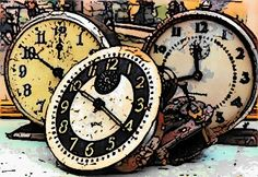 old industrial clocks