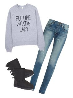 """""""Untitled #79"""" by zaibaapotato123 ❤ liked on Polyvore featuring Yves Saint Laurent and UGG"""