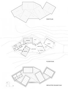 floor plans. Don't really like the random layout but do like the concept of using the negative space between individual spaces.