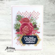 Stampin' Up! Christmastime is here Christmas Rose, Christmas Time Is Here, Stampin Up Christmas, Christmas 2019, Handmade Christmas, Pillow Box, Gifts For Family, Stampin Up Cards, Christmas Cards