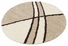 Details:  Runde Form, Grafisch gemustert, Hochflor-Teppich, Fußbodenheizungsgeeignet,  Qualität:  Maschinengewebt, 64.860 Florfäden/m² (ca.), 2 kg/m² Gesamtgewicht (ca.), 30 mm Gesamthöhe (ca.), Ringsum eingefasst (gekettelt), Geweberücken aus Jute (Grundgewebe),  Flormaterial:  100% Polypropylen,  Qualitätshinweis:  Diese Teppiche sind besonders pflegeleicht und lassen sich problemlos reinigen...
