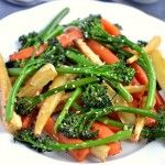 Sticky Roasted Vegetables with Sesame-Miso Dressing - Coconut and Berries