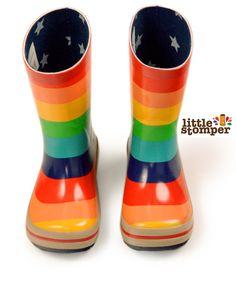 Little Stomper - Molo  Rainbow Stripe Wellington Boot, €23.55 (http://www.littlestomper.co.uk/molo-rainbow-stripe-wellington-boot/)