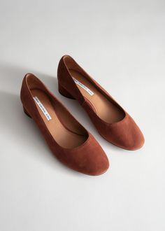 Suede Ballerina Pumps - Rust - Pumps - & Other Stories