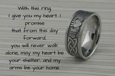 Big Wedding Rings, Titanium Wedding Rings, Celtic Wedding Rings, Unique Wedding Vows, Wedding Stuff, Wedding Ceremony, Lesbian Wedding Rings, Irish Wedding, Wedding Rustic