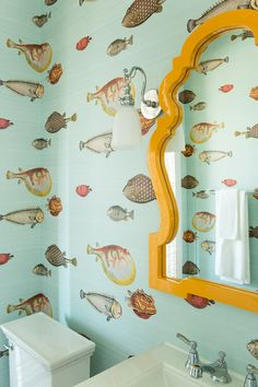COASTAL LIVING 2015 SHOWHOUSE: Den & Powder Rooms Before & After - Peppermint Bliss More