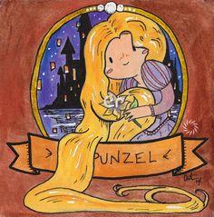 Rapunzel - Signed Watercolor Print