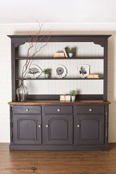 When we bought the house we inherited a welsh dresser. It's a huge piece of furniture and is probably worth a fair amount of money in good condition (which it's not – it's m…