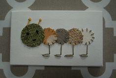 Baby Caterpillar #26 Fabric Wall Art by CottonwoodCove on Etsy