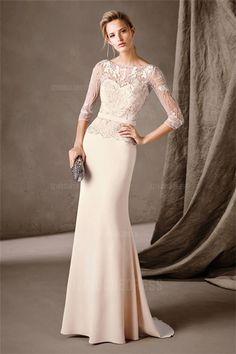 9ee98adebd2 Sheath/Column Bateau Sweep/Brush Train Jersey Mother of the Bride Dress  Τούλι,