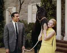 """Sean Connery and Tippi Hedren from """"Marnie""""."""