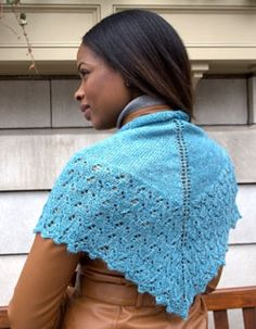 Linaza Shawl Free Knitting Pattern  Knit a pretty layering piece! With just one…