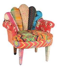 Look at this Orange Peacock Chair on #zulily today!