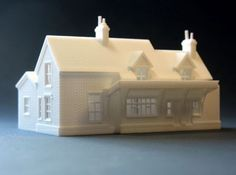 N Scale LSWR Wool Station 3d printed Model trains