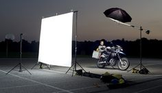 Love David Hobby's (Strobist) behind-the-scenes setup shots.