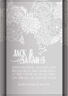 AI_005 Anniversary Invitations, 25th Wedding Anniversary, Rsvp, Invite, Monkey, Tapestry, Hanging Tapestry, Playsuit, Birthday Invitations