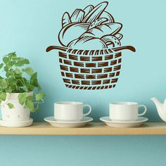 Wall Decals Beads In The Basket Kitchen Home by DecalHouse on Etsy