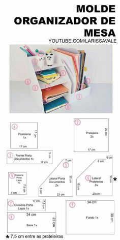 51 Super Ideas for desk organization diy cardboard craft rooms Desk Organization Diy, Diy Desk, Diy Storage, Craft Storage Solutions, Diy Organizer, Craft Desk, Cardboard Organizer, Cardboard Crafts, Diy Karton
