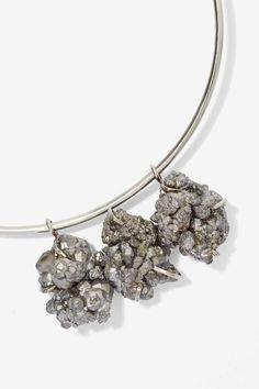 Solid Pyrite Collar Necklace - Accessories   Necklaces