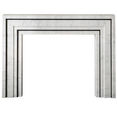 21st Century Marble and Steel Mantel Designed by Eric Cohler | From a unique collection of antique and modern fireplaces and mantels at https://www.1stdibs.com/furniture/building-garden/fireplaces-mantels/