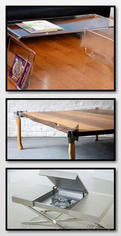 Unique Coffee Tables - We deal with coffee tables as a point of need. It's something you place in front of the sofa to be able to place your coffee, etc Unique Coffee Table, Rustic Coffee Tables, Diy Coffee Table, Decorating Coffee Tables, Diy Projects To Make And Sell, Drafting Desk, Highlight, Repurposed, Remote