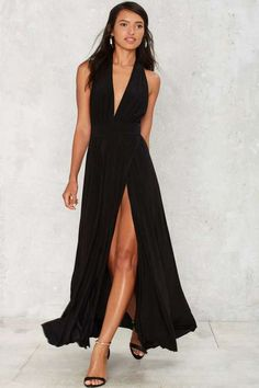 Factory Slit This One Out Maxi Dress