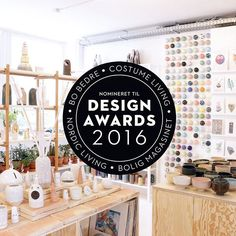 We're super excited and honored to announce we have been nominated as 2016's Arts & Crafts Studio of the year for the Danish Design Awards!