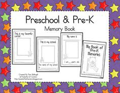 Preschool & PreK Memory Book