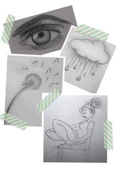 Collage gemaakt van een paar tekeningen die ik gemaakt heb.