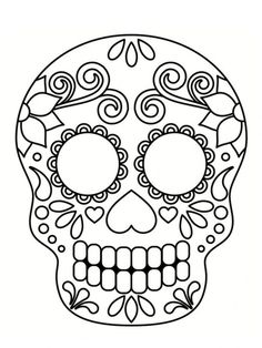 Home Decorating Style 2020 for Coloriage Halloween Tete De Mort Mexicaine, you can see Coloriage Halloween Tete De Mort Mexicaine and more pictures for Home Interior Designing 2020 19844 at SuperColoriage. Halloween Crafts For Toddlers, Halloween Activities, Toddler Crafts, Mexican Halloween, Halloween Kids, Mascaras Halloween, Skull Coloring Pages, Colouring, Coloring Books