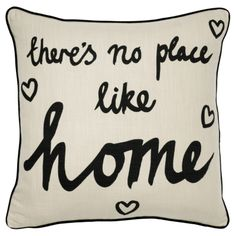 George Home There's No Place Like Home Cushion - 43x43cm £7.00