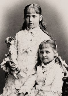 Alix of Hesse (later Tsarina Alexandra of Russia) and sister Marie of Hesse.