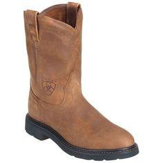 Ariat Men's 10004986 Sierra Brown Slip-Resistant Wellington Work Boots